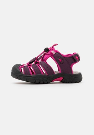 NIMBO - Walking sandals - bordeaux/pink