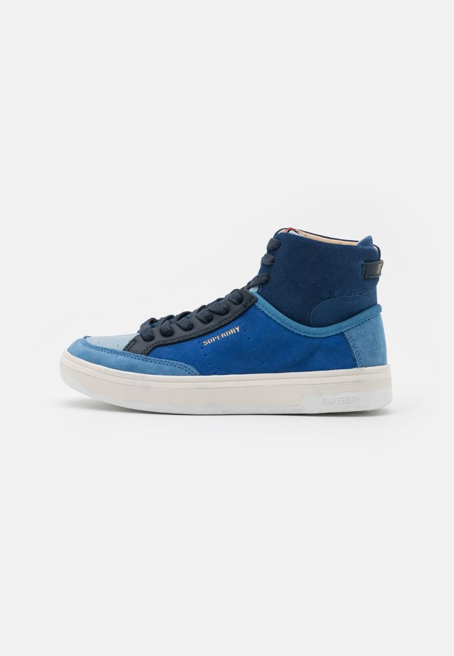 PREMIUM BASKET LUX TRAINER - High-top trainers - navy