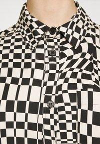 Monki - Button-down blouse - black - 4
