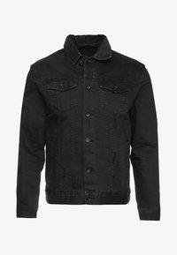 UNISEX RODEO JACKET - Denim jacket - distressed black