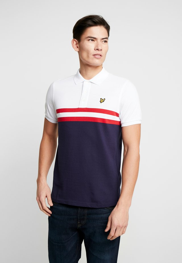 YOKE STRIPE - Polotričko - white/navy