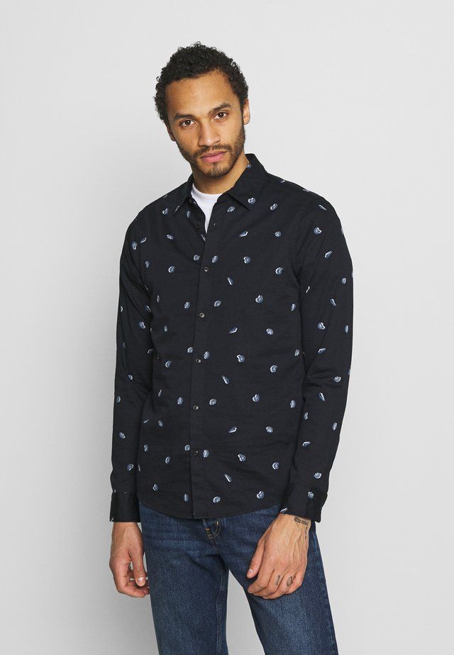 REGULAR FIT CLASSIC ALL OVER PRINTED - Camisa - dark blue