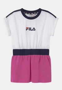 Fila - FILIO - Jersey dress - bright white/super pink/black iris - 0