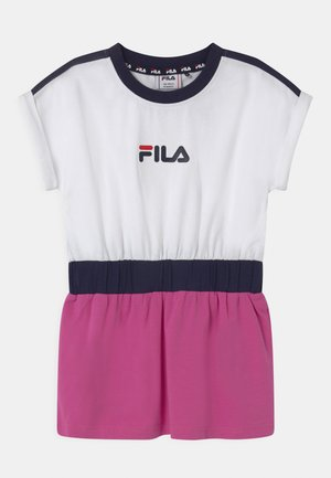FILIO - Jersey dress - bright white/super pink/black iris