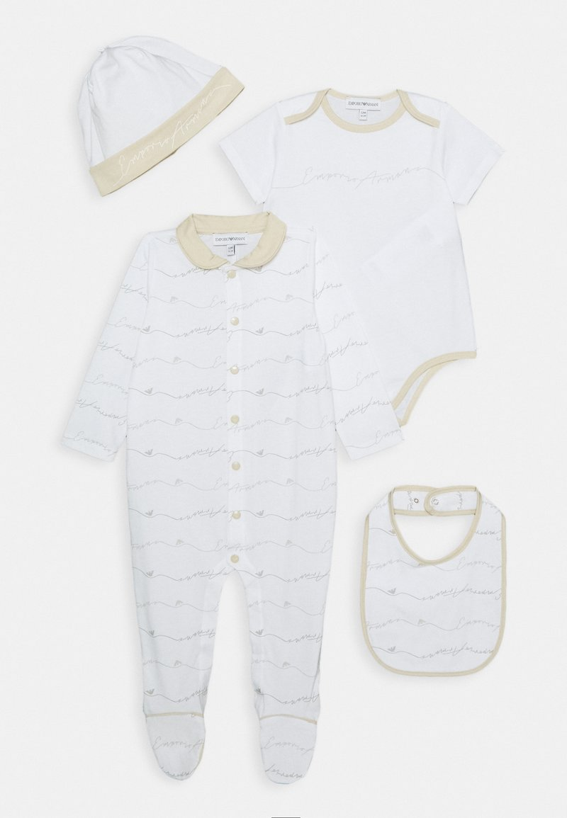 Emporio Armani - BABY SET - Bonnet - beige
