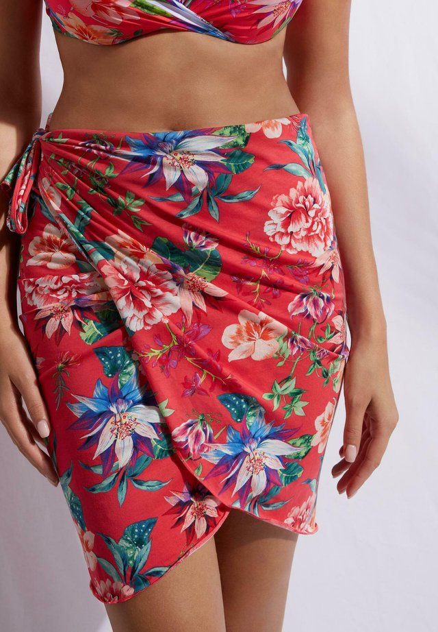 Strandaccessoar  - flowers glossy red