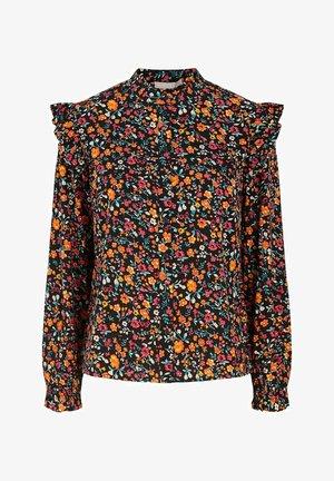 OBERTEIL PRINT - Button-down blouse - black 2