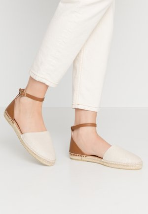 Loafers - light beige/cognac