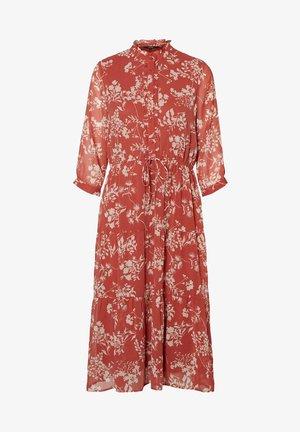 VERO MODA KLEID BEDRUCKTES - Shirt dress - marsala