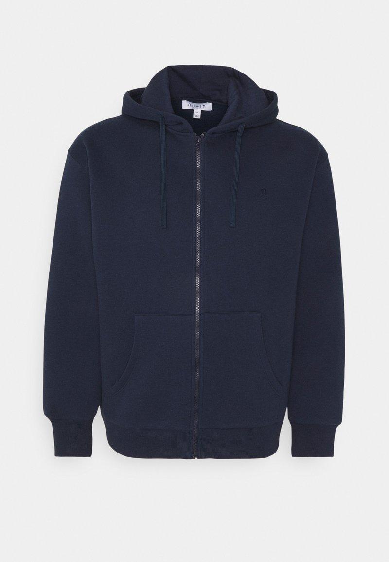 NU-IN - PLUS ZIP UP HOODIE - Zip-up hoodie - navy