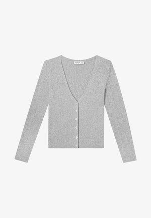 MIT ZOPFMUSTER - Cardigan - grey