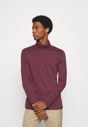 BASIC TURTLE NECK LONGSLEEVE - Long sleeved top - dusty wildberry red