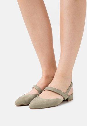 Slingback ballet pumps - pistacchio