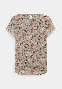 Vila - VIMILINA FLOWER - Print T-shirt - green milieu/red/pink - 7