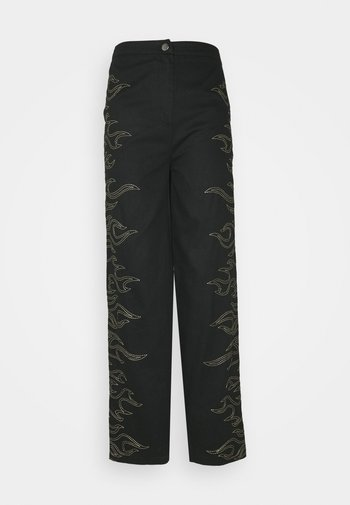 FLAME STITCH HIGH WAISTED TROUSER