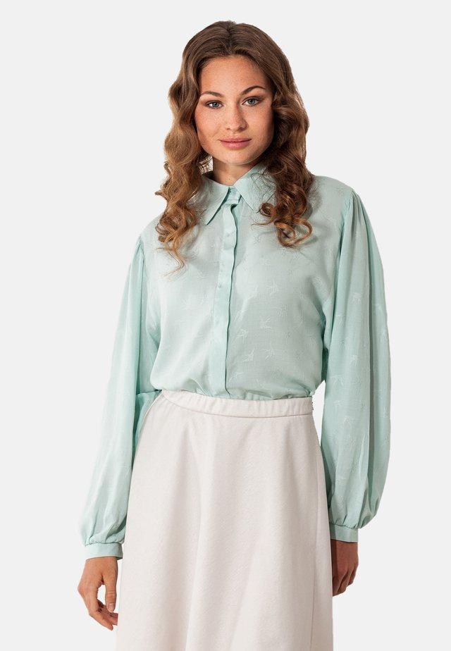 Button-down blouse - türkis