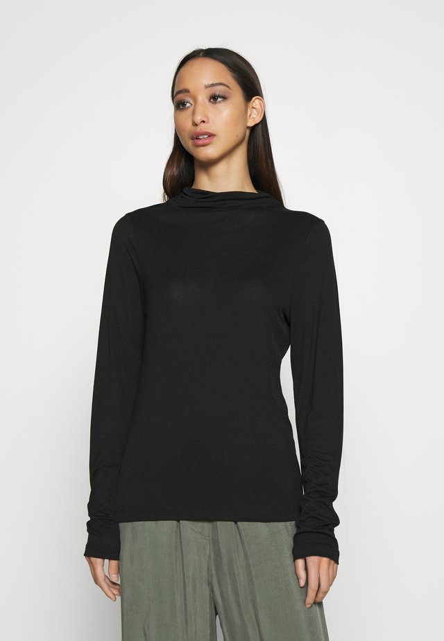 ANGIE - Long sleeved top - black
