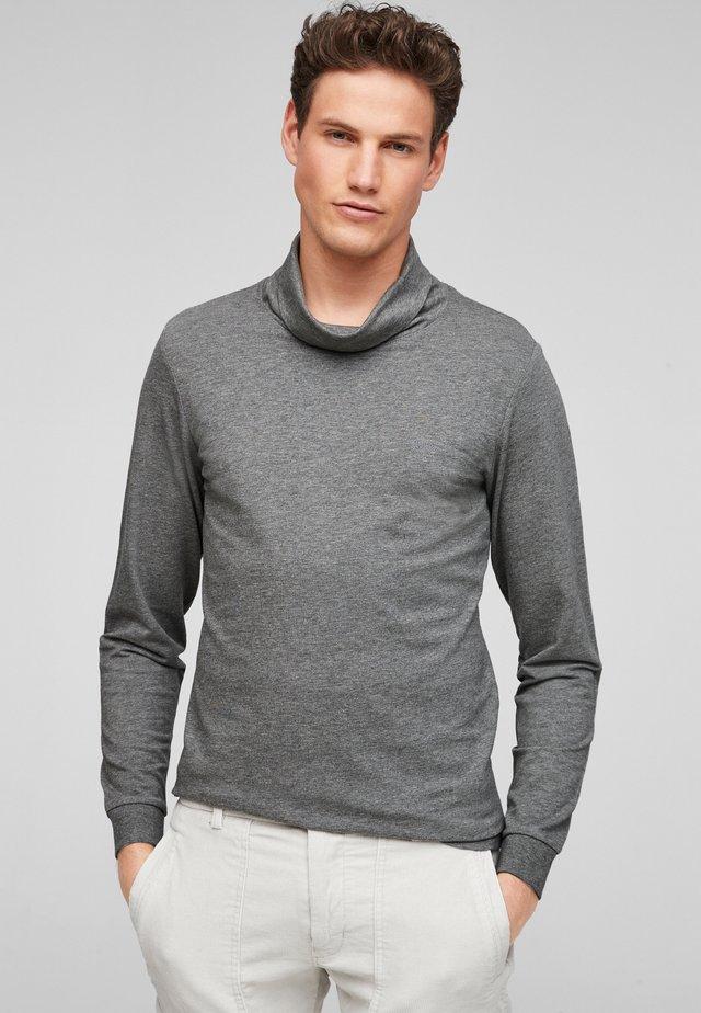 LANGARMSHIRT MIT TURTLENECK - Long sleeved top - light grey