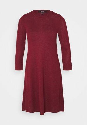 VMFELICITY NECK DRESS - Jumper dress - cabernet