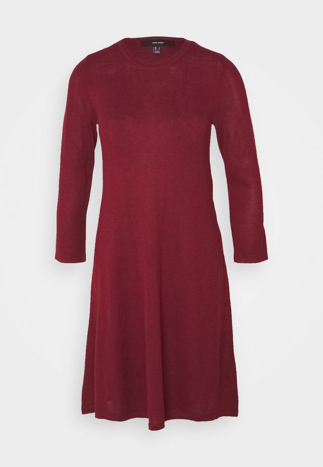 VMFELICITY NECK DRESS - Jumper dress - cabernet