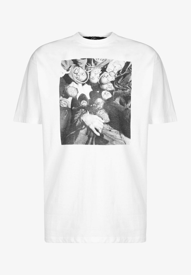 T-shirt med print - white/black