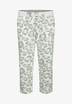Tracksuit bottoms - white/green