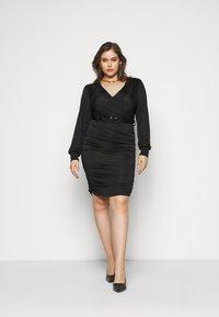 Vero Moda Curve - VMEIRO KNEE DRESS  - Etuikjole - black - 1