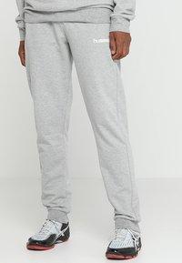 Hummel - HMLGO COTTON PANT - Spodnie treningowe - grey melange - 0