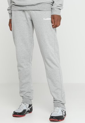 HMLGO COTTON PANT - Tracksuit bottoms - grey melange