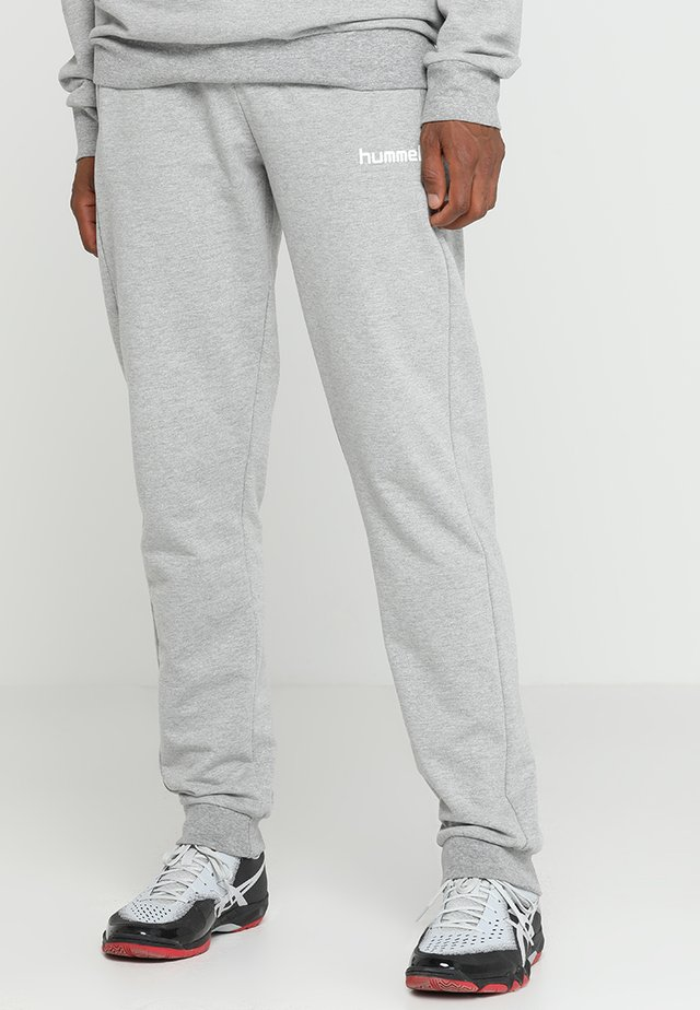 HMLGO COTTON PANT - Pantalon de survêtement - grey melange
