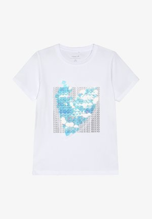 NKFTILIS - Print T-shirt - bright white