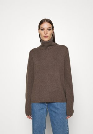 TURTLENECK JUMPER - Neule - brown medium