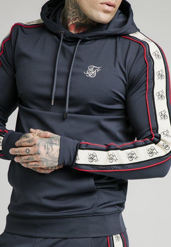 SIKSILK OVERHEAD PREMIUM TAPE HOODIE - Bluza z kapturem - navy/granatowy Odzież Męska SFRM
