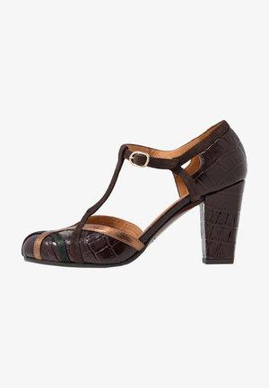 Classic heels - kenya grape/lame verde/picasso bronce/testa di moro