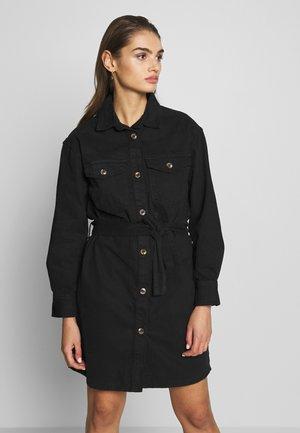 SILJE DRESS - Sukienka jeansowa - black denim