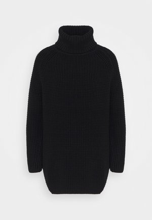 LONG SLEEVE TURTLENECK - Strickpullover - black