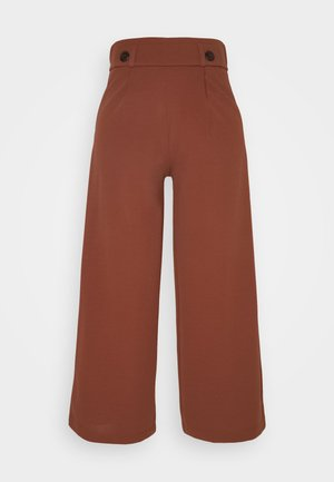 JDYGEGGO NEW ANCLE PANTS - Trousers - cherry mahogany/black