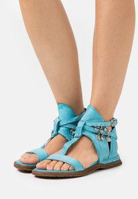 A.S.98 - T-bar sandals - marina - 0