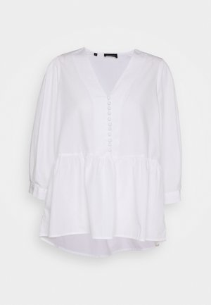 SLFVELLA PEPLUM - Blouse - snow white