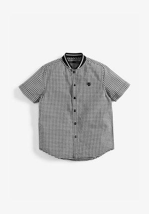 BLACK/WHITE GINGHAM BASEBALL SHIRT (3-16YRS) - Košile - black