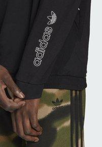 adidas Originals - SPRT ARCHIVE MIXED-MATERIAL CREW SWEATSHIRT - Sweatshirt - black - 5