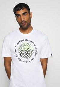 adidas Performance - Print T-shirt - white - 3