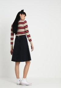 Mads Nørgaard - STELLY - A-line skirt - blue/black - 2