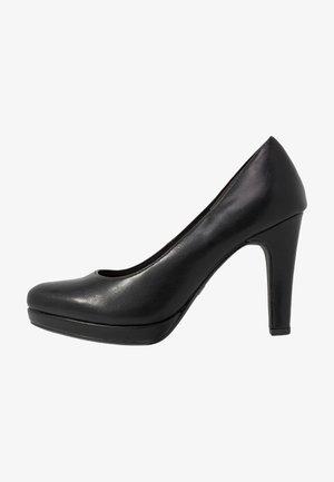 High Heel Pumps - black matt