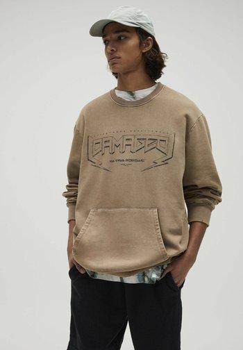 Sweatshirt - mottled brown