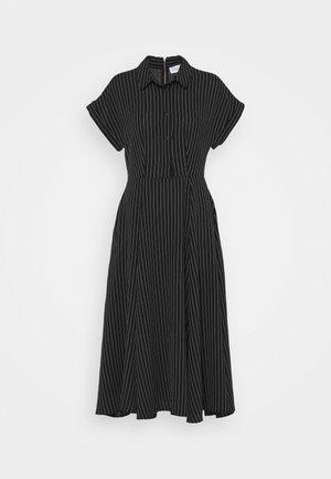 CLOSET FULL SKIRT SHIRT DRESS - Skjortekjole - black