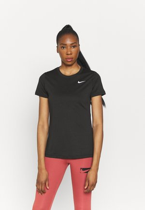 LEG TEE CREW - Basic T-shirt - black