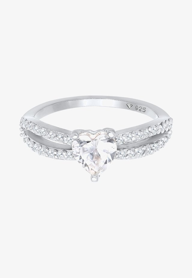 HERZ  - Ring - silber