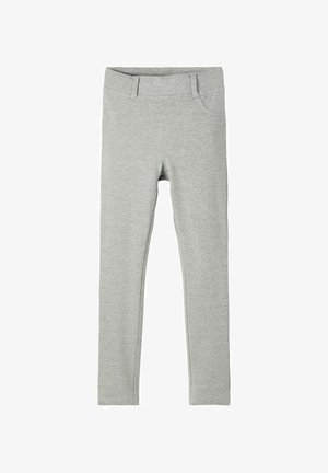 NKFJAVI SOLID  - Tracksuit bottoms - grey melange