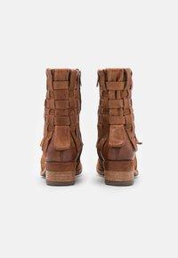 A.S.98 - Cowboy/biker ankle boot - calvados - 3